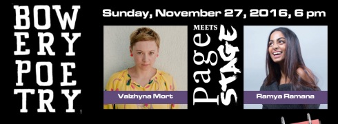 Valzhyna Mort Meets Rama Ramana On November 27, 2016